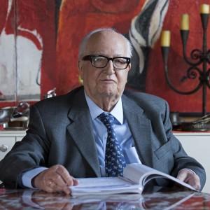 Franco Carpanelli nel suo studio a Parma